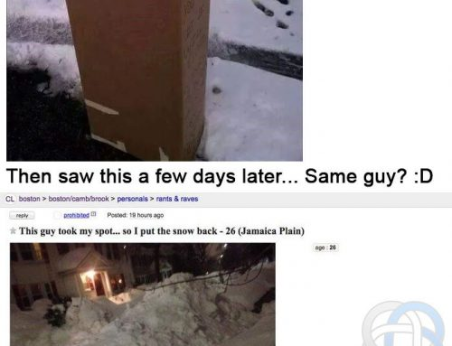 Boston Snow Parking Space Revenge
