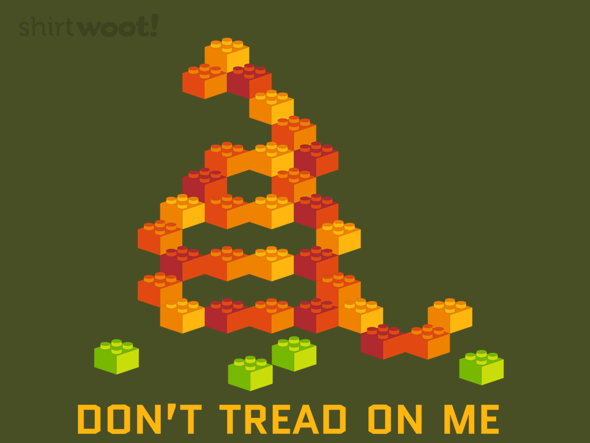 Lego Don't Tread on Me Woot Shirt