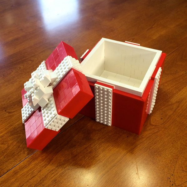 An adorable Lego gift box awesome idea for an engagement ring Lego box