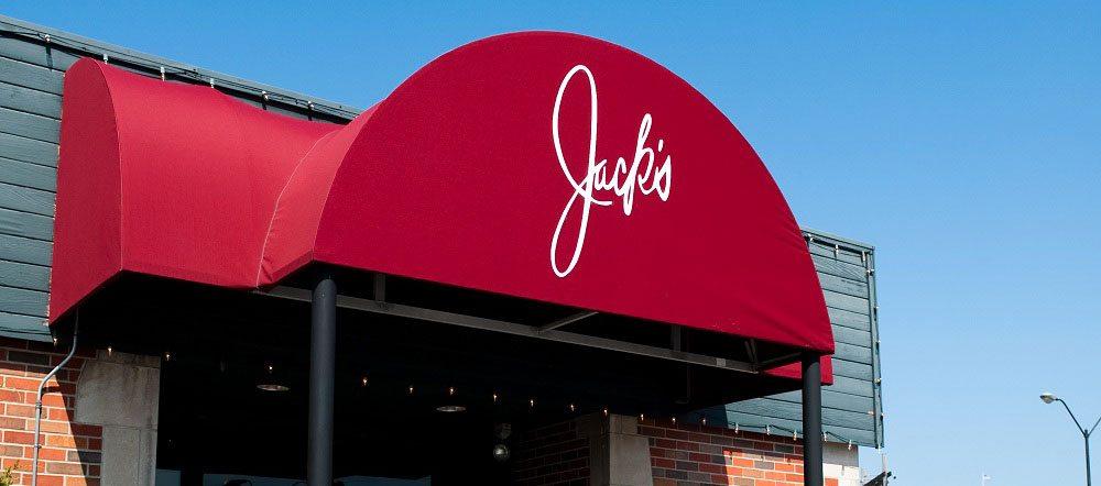 Jack's Gourmet Restaurant Awning photo by Ellis Benus Web Designer in Columbia MO