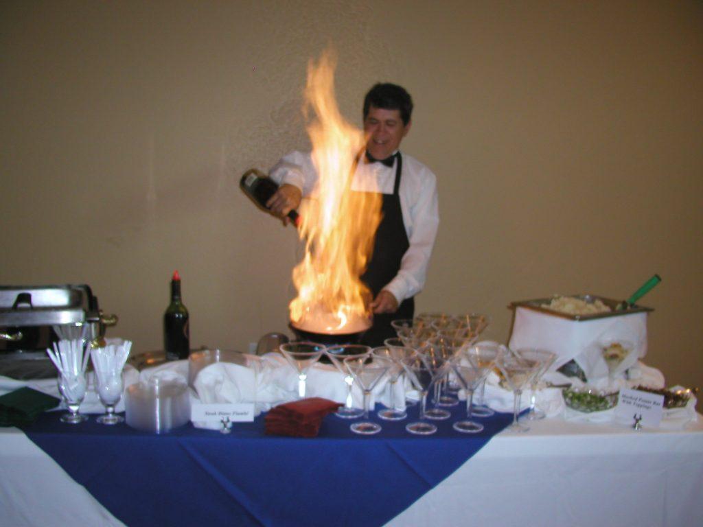 Jacks Gourmet Restaurant Flaming Coronodo Table Side Service Desert
